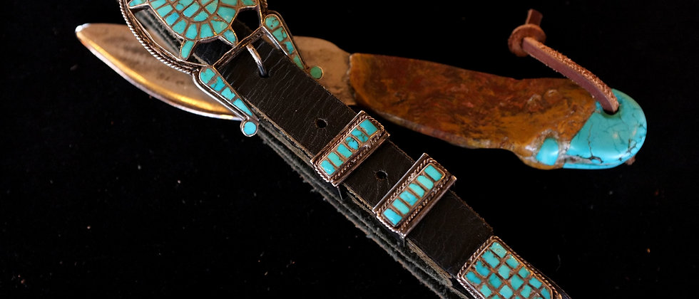1940s Turtle Inlay Belt