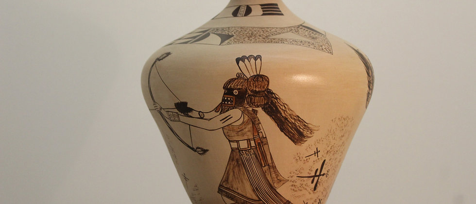 Hopi Jar with Kachina Designs