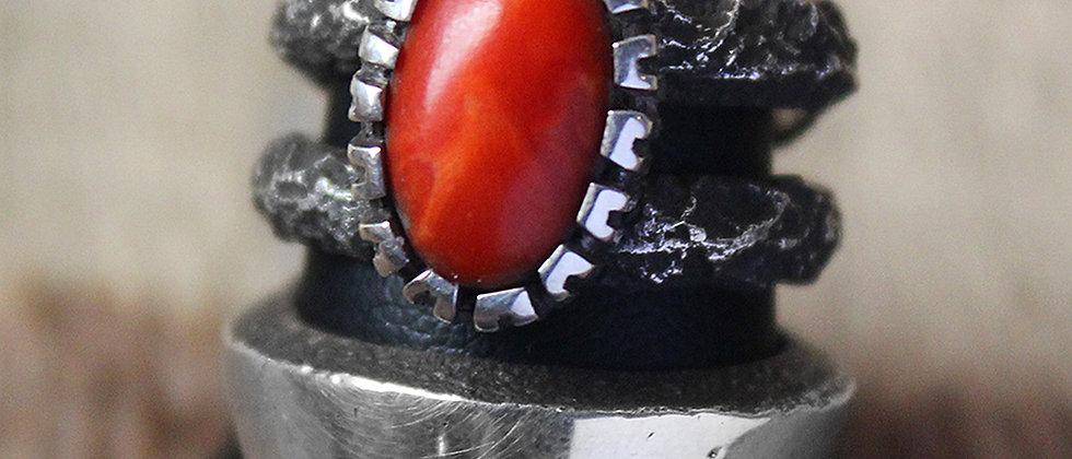 Tufa Cast & Coral Ring