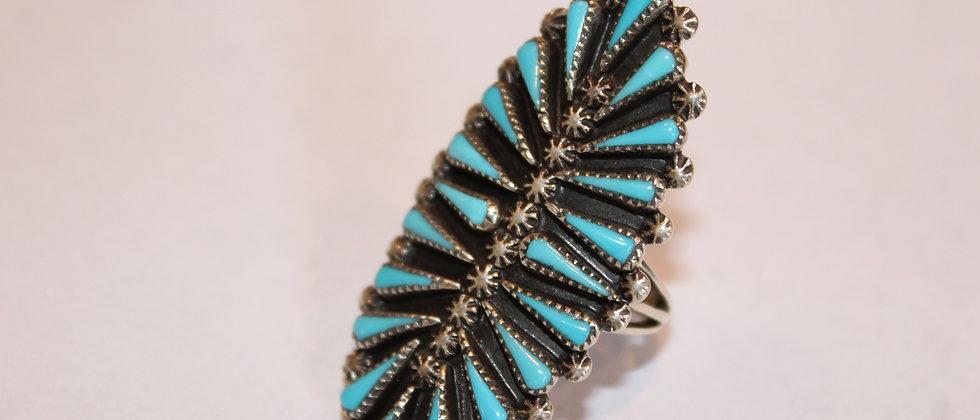 Zuni Needlepoint Ring
