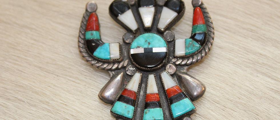 1940s Zuni Chiricahua Pendant