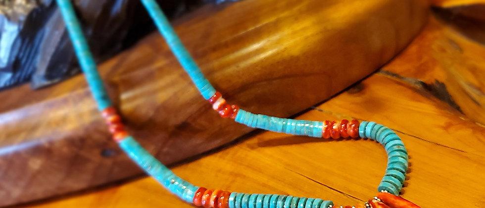 Santo Domingo Turquoise & Spiny Necklace