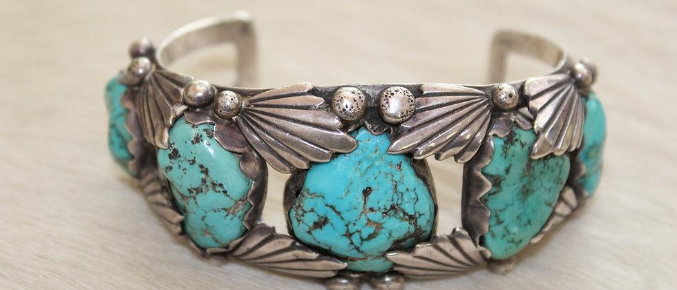 1950s Kingman Turquoise Bracelet