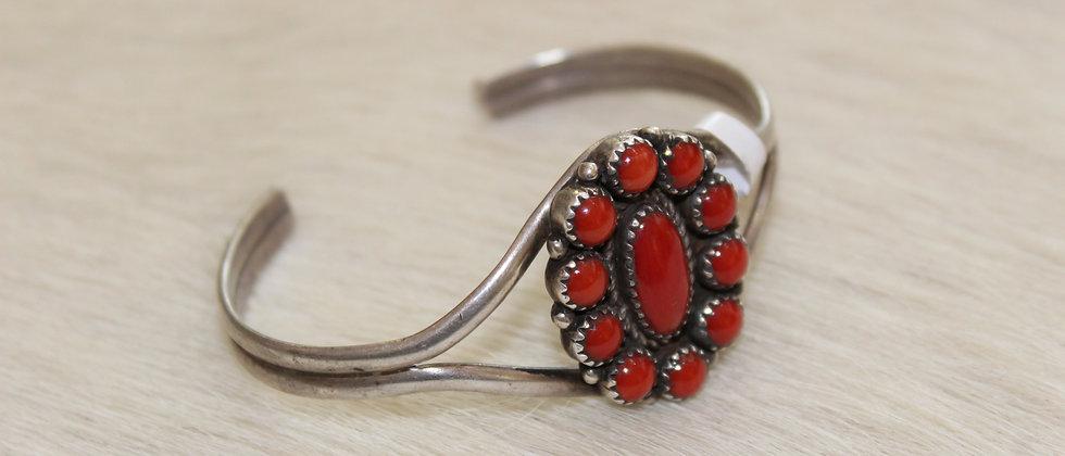 1970s Coral Cluster Bracelet