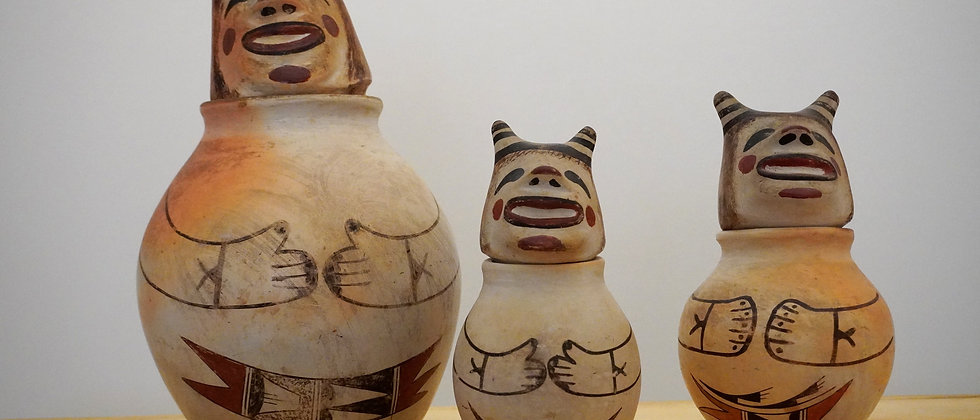 Hopi Canisters Koshare Clowns