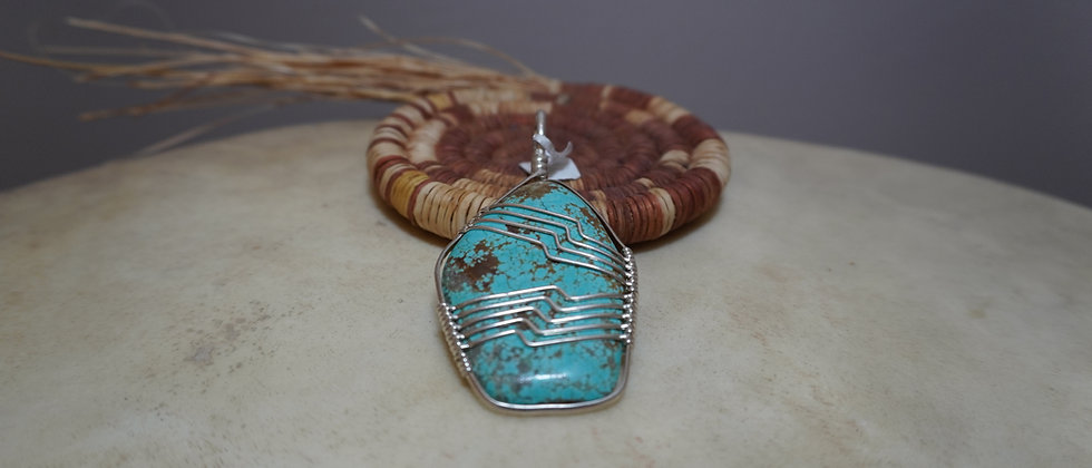 Silver wrapped Pendant