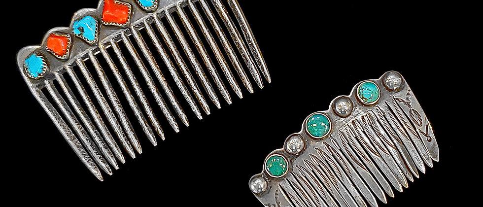Navajo and Zuni Hair Combs