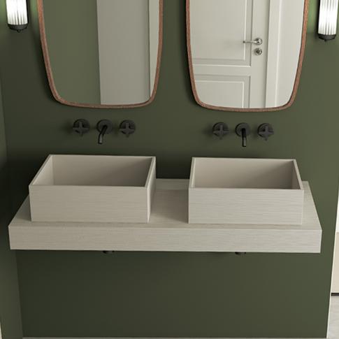 Plan de toilette et vasque Wood