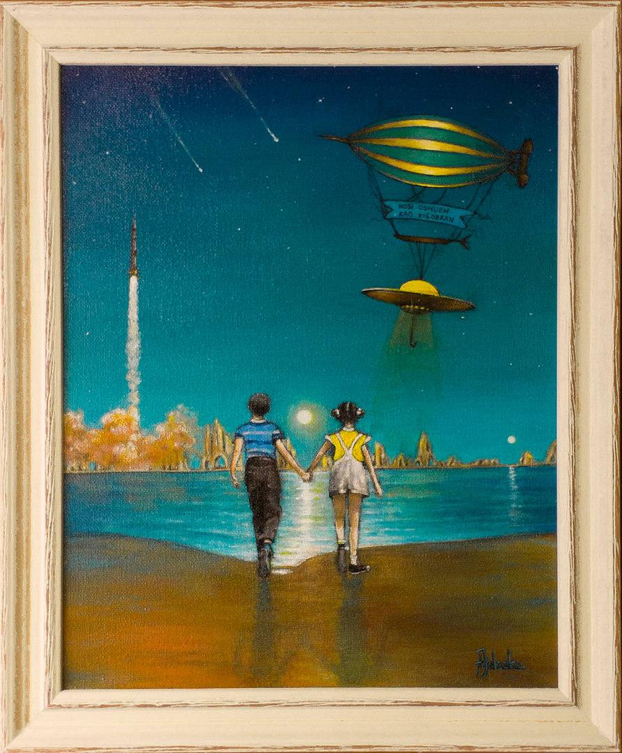 acrylic on canvas  24 x 18 cm