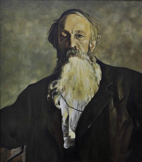Reproduction - Ilya Repin 1883. (portrait of V. V. Stasov)