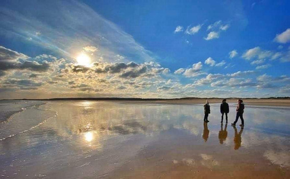 Sea and clouds at Holkham beach