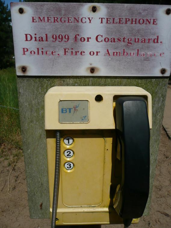Emergency phone at Holkham Beach