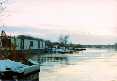The houseboat at Horning when I was at the University of East Anglia