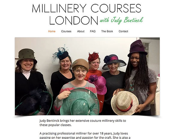 Judy Bentinck's Millinery Courses