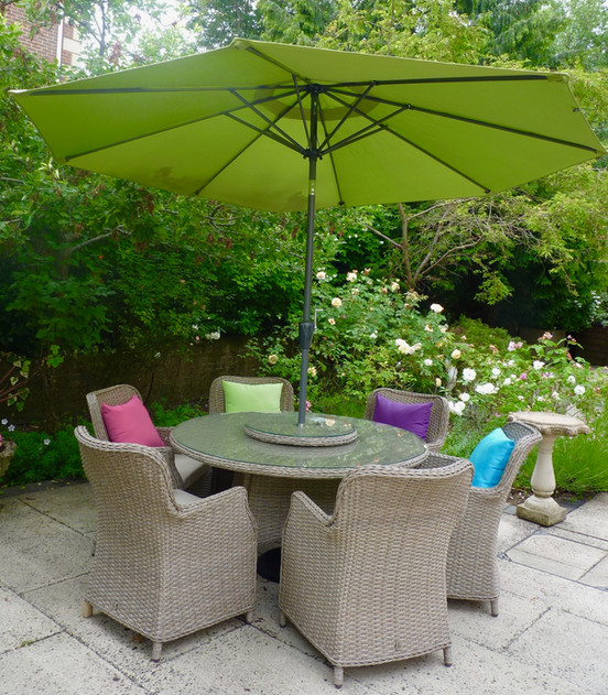 Patio chairs and tables