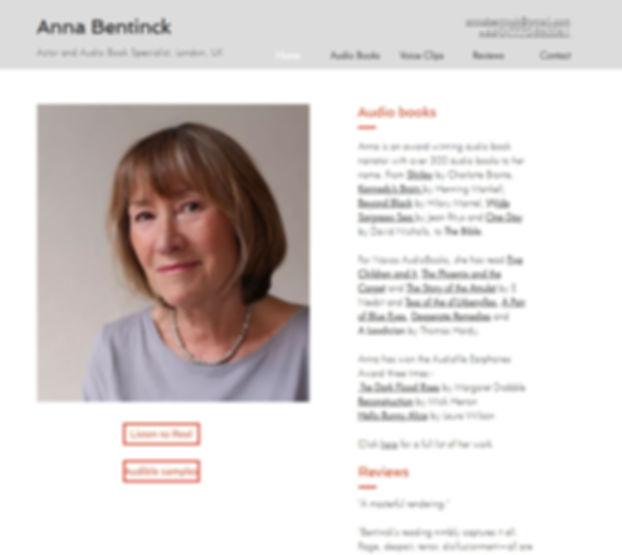 Anna Bentinck Website
