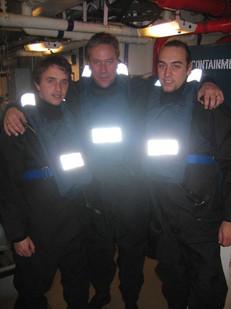 Tellytubbies on board HMS Portland