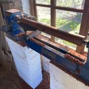 The lathe in place