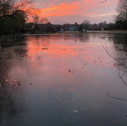 The village pond outside