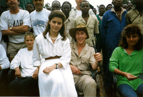 With Emma Harbour in Wall's Feast commercial in Kenya