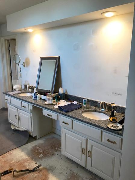Bathroom handyman plumbing, eletrical, & finish