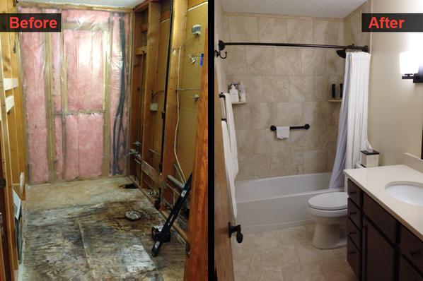 Handyman bathroom remodel
