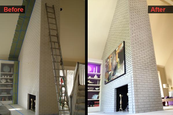Brick Chimney Repair & Painting
