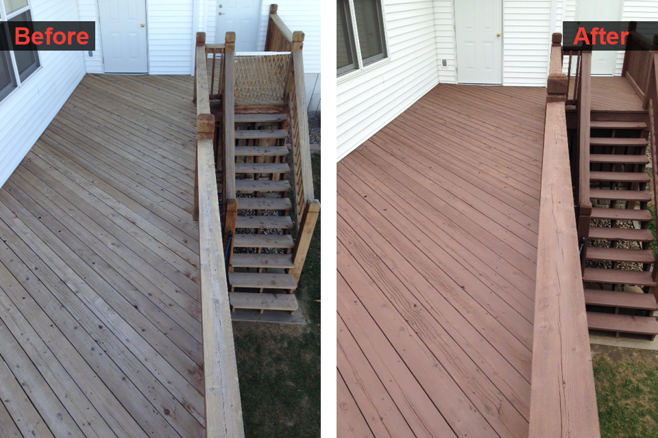 Deck and Stair Staining