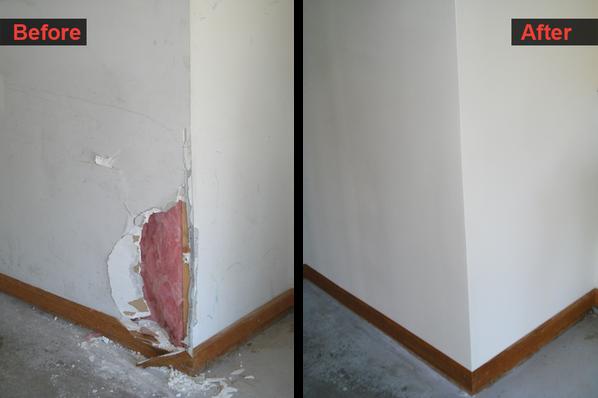 Corner Wall Handyman Repair