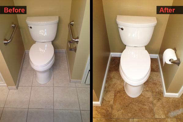 Floor and Toilet Refinish