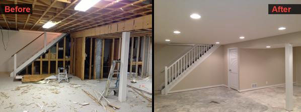Basement Home Remodel & Finish