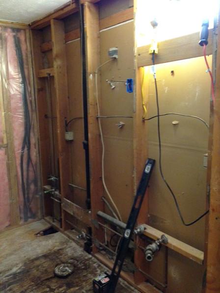 Redoing bathroom walls, plumbing, & fixtures