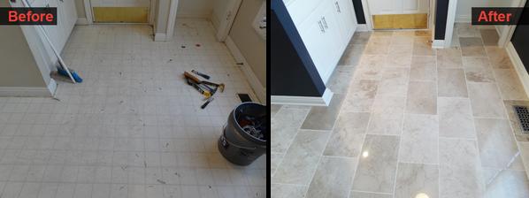Floor Remodel in Laundry Room
