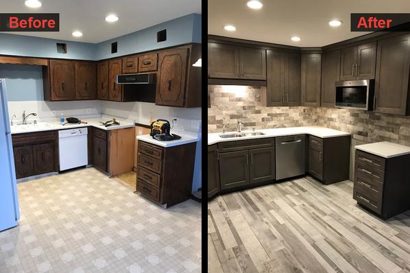 Kitchen Floor Home Remodel