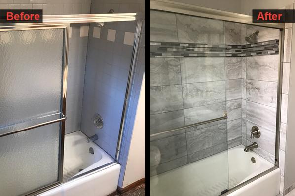 Shower Tile & Faucet Finish