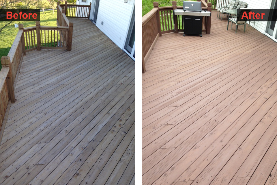 Deck Stain Finishing