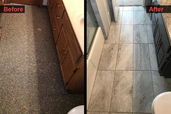 Bathroom Floor Remodel
