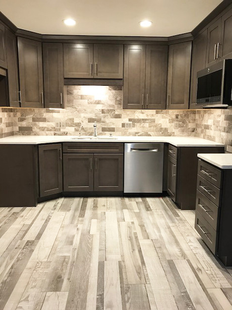 Kitchen Remodel- Floors, cabinets, countertops, and appliances