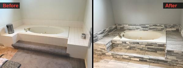 Bathtub, Tile. and Floor Finish