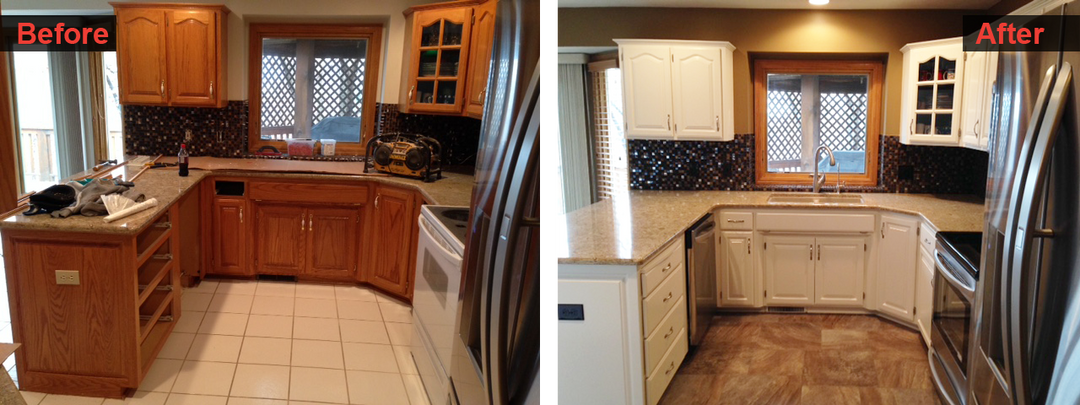 Kitchen Floors and Cabinet Remodel