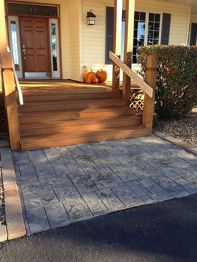 Stamped Side Walk and porch