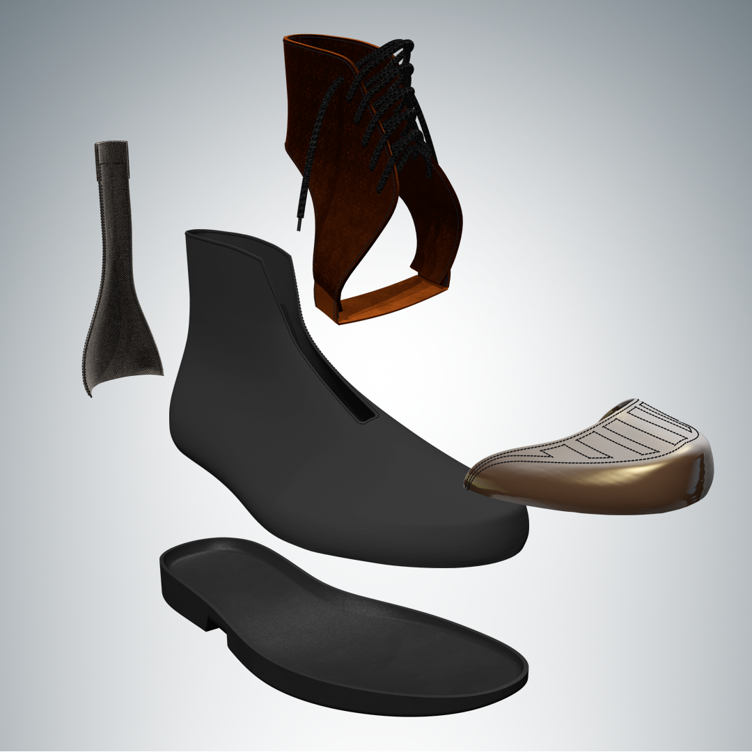 RoboShoe Exploded view