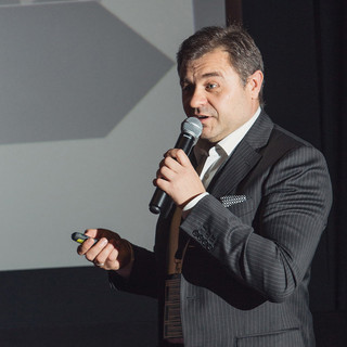 Andrey Golub, ELSE Corp's CEO, speaking at the Conference