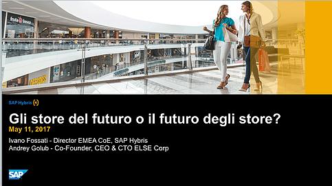 Gli store del futuro o il futuro degli store?