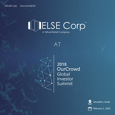 ELSE Corp OurCrowd Global investor summit 2018