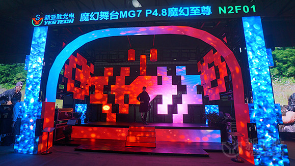 led tile video screen digital signage for rent at events rental