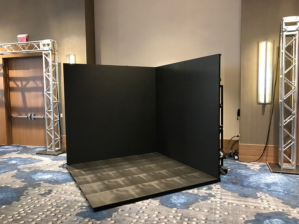 led video screen wall for rent at events
