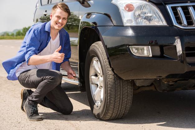 carro, pneu furado