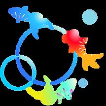 イラスト カラフル金魚.png