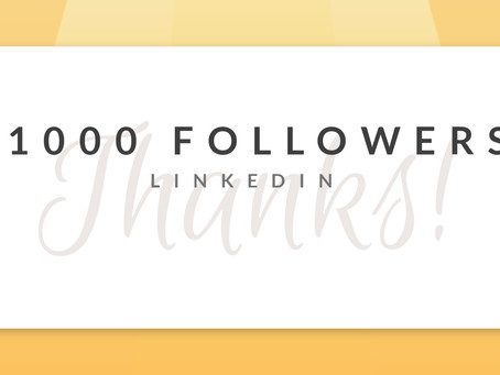1000 followers on LinkedIn!
